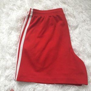 adidas Shorts - Red Adidas Shorts